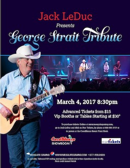 George Strait Tribute | CasaBlanca Showroom - Mesquite NV | 3-4-17