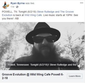 Groove Evolution @ Wild Wing Cafe Powell 6-2-18
