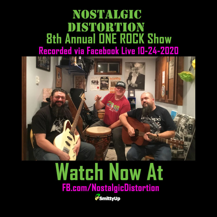 Watch Now | Nostalgic Distortion 8th Annual ONE ROCK Benefit Show | 10-24-2020